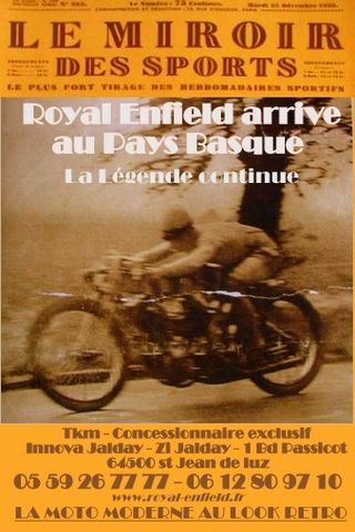 Royal Enfield Pays Basque Miroir des Sports vitesse [640x480]