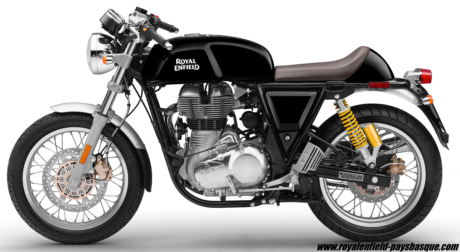 continental gt 535 noire royal enfield pays basque. Black Bedroom Furniture Sets. Home Design Ideas