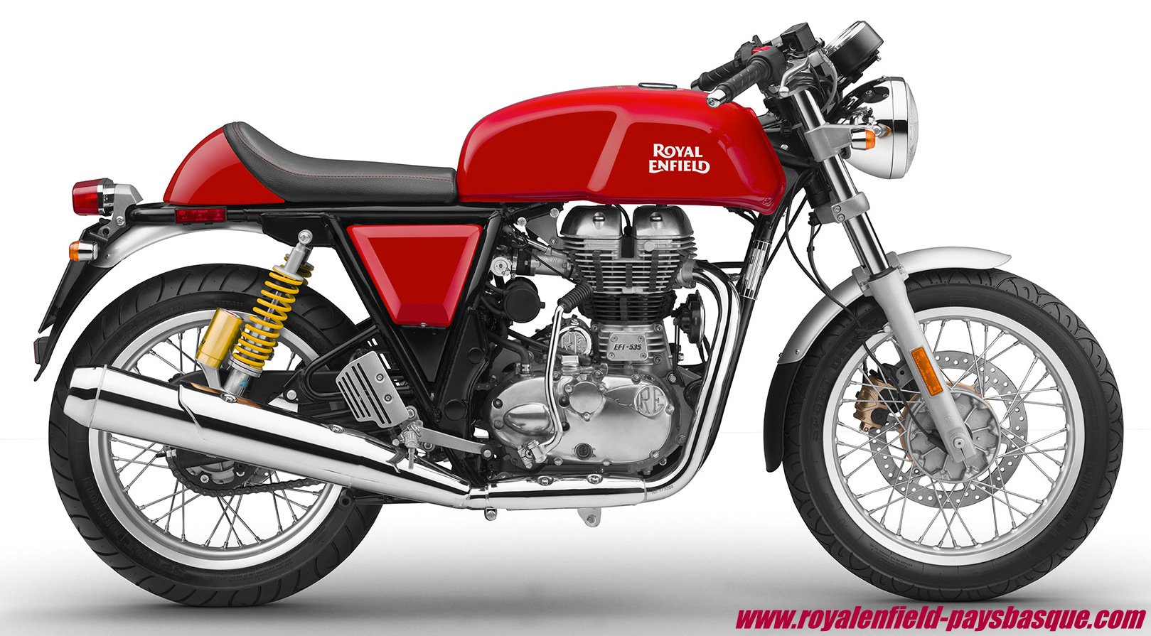 continental gt 535 rouge royal enfield pays basque. Black Bedroom Furniture Sets. Home Design Ideas