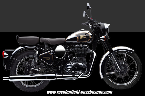 la classic chrome noire royal enfield royal enfield pays basque. Black Bedroom Furniture Sets. Home Design Ideas